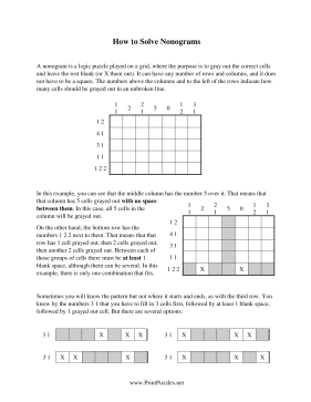 How To Solve Nonograms Printable Puzzle