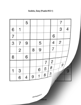 photograph relating to Printable Sudoku Puzzles Medium titled Printable Sudoku Reserve - Range #3 Printable Puzzle