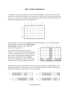 How To Solve Nonograms Print Puzzle