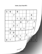 Printable Sudoku Book - Easy Print Puzzle