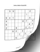 Printable Sudoku Book - Medium Print Puzzle